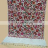 Pashminas wool shwals with Embroidered