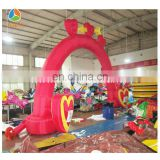love heart shape arch, inflatable arch