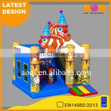top selling products 2017 inflatable clown fish combo inflatable jumping bed for kids entertainment