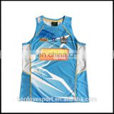 100% polyester quick dry sublimated basketball singlets