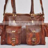 Vintage Goat leather handmade laptop bag Indian Duffel bag full briefcase bag wholesale Xmas Offer