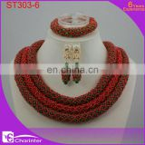 nigerian coral beads crystal beads african jewelry sets african fashion jewelry set women jewelry ST303-6