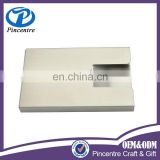 Promotional custom aluminum card holder , aluminium name card holder