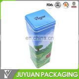 Chinese square shape empty small metal tea tin box with cheap price