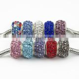 Factory directly ! wholesale big hole loose beads DIY rhinestone chain accessories