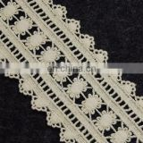 New style high quality embroidery cotton lace trim for garment
