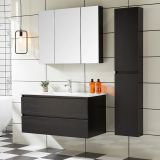 China Shandong modern hotel bathroom cabinet vanity sets