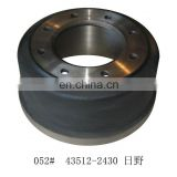 heavy duty truck brake drum 43512-2430 for truck