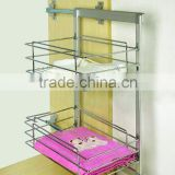 wardrobe accessories metal two layer cloth basket