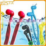 Fancy wholesale bottom price funky mobile phone use Internet shoelace earphones