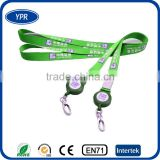 China Wholesale New brand name printing custom badge reel lanyards