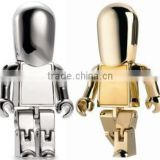 promotion gift gold man robot shape metal USB Flash drive 8GB                                                                         Quality Choice