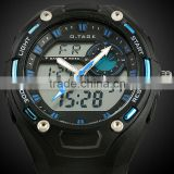 Brand New Mens Rubber Strap Blue Analog Digital Dual Dial Sport Watch WS058