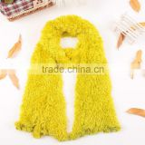 Fashion Nylon Yellow Women's Winter Changeable Microfiber Magic Scarf Long Warm Stretchy Wrap Shawl Ladies Scarves For Girls