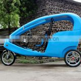 JOBO FRP Three Wheel Motor Cycle 1Kw Electric Rickshaw Pedicab, Velo Taxi