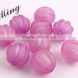 Purple Color Chunky Acrylic Watermelon Plastic Frost Beads in Beads Wholesales Jewerly Fashion