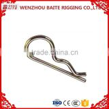 China Baite factory Zinc plated steel 8mm clevis bolt pin R type clip industry R Hair clip