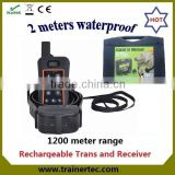 1200Meter waterproof and rechargeable multi-dog system pet training pads