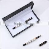 Exclusive Silver Barrel Decorating China Sign VIP Gift Pen Set With customzied Style
