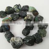 Natural Gemstone Chrysocolla Rough Nugget Beads for Jewelry Making and Fashion Decoration