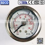 High perfermance YTN series vibration proof Liquid filled water pump pressure gauge YTN-40D