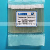 CM-FS750D Transparent Handle Swab For Hard Disk Drive,LCD,PCB,SMT, IC, medical and biotech industry