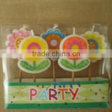 Birthday cake decorative toothpick candles