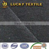 Black boiled wool fabric with 100% wool