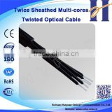 China manufacturer Buffered with PVC sheath Multi-cores Twisted Optical Cable Plastic Optical Cable
