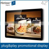 42-inch large screen shelf hanging motion activated usb video player led display stand