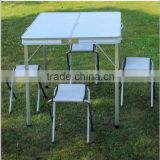 portable outdoor folding aluminium bar tables bbq side table