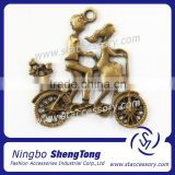 Antique Bronze Boy and Girl Riding Bike Charms For Wedding