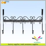 New design modern decorative black wall mounted hanging metal display hook for coat