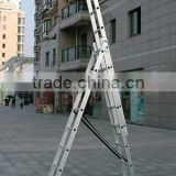 3 section aluminium extension ladder
