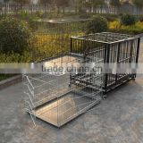 china galvanized steel iron wire large double heavy duty strong stainless steel dog crate