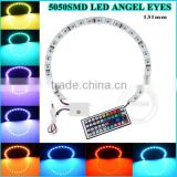 led head light 20 colors DC12V Black white PCB semi circle 5050 smd halo rings rgb led angle eyes