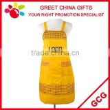 PVC Coated Waterproof Promotional Bib Kitchen Apron with Pockets