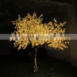 3m Warm White Outdoor Holiday Decoration Artificial Plants Yellow Leaf Maple Tree Lights