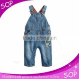 Euramerican stylish denim jumpsuit girls jeans wholesale