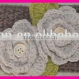 wholesale cotton flowers baby bliss crochet hair band for cheerleading
