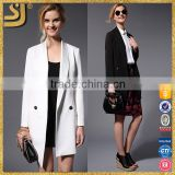 Custom 2016 latest design formal suit one button women long jacket blazer                                                                                                         Supplier's Choice