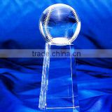 Optical Crystal Baseball Trophy