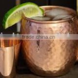 100% Pure Copper Beer Mug with Copper Shot Glass, Hammered Copper Mugs, Moscow Mule Copper Beer Mugs
