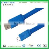 blue flat cable micro usb long 3m cable micro usb long connector usb data transfer
