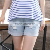 d83215f 2016 summer fashion women hole jeans shorts for pregnant