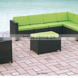 00 outdoor furniture modern design sectional comfortable cushion corner rattan sofa set YPS049