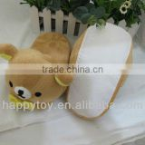 HI 2013 EN71 cute rilakkuma bear plush slipper