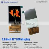 3.0inch Smart phones tft lcd roof mounted monitor 3.0inch tft lcd monitor 240*400