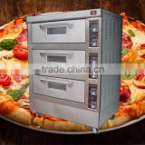 Good looking 3 decks 6 trays Electric PIZZA Oven /Commercial Bakery oven with CERAMIC STONE