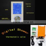 Square thermostatic digital shower mixer electronic temperature control valve for bathroom accessories faucet
